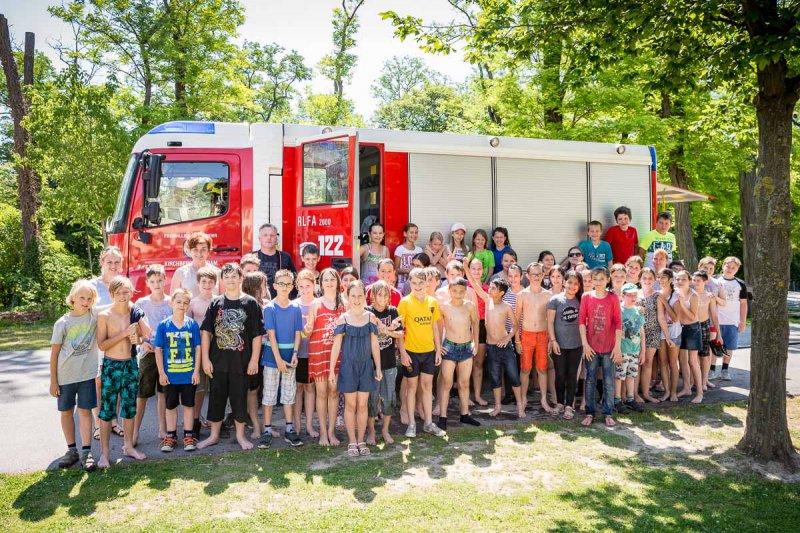 Schulschluss mit der Feuerwehr Kirchberg am Wagram