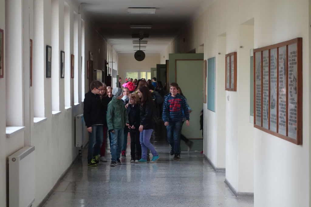 Evakuierung des Schulzentrums Kirchberg am Wagram